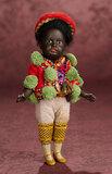 German Black-Complexioned Bisque Doll by Gebruder Kuhnlenz 400/500