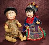 German Bisque Chinese Baby, Model 243, by Kestner 1800/2200