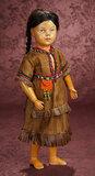 American Wooden Schoenhut Doll as Native American Girl 600/800