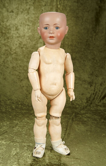 "21"" German bisque 1488 character child by S&H (professional restoration), composition body."