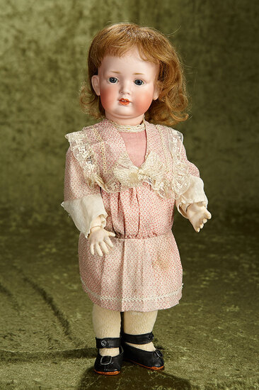 "16"" German bisque toddler, 604, by Bahr and Proschild in nice antique costume. $500/600"