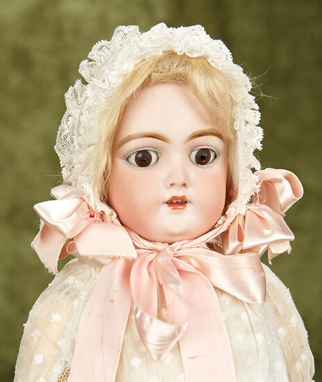 """18"""" German bisque child doll, 109, by Handwerck with original body. $400/500"""