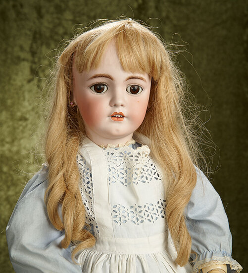 "33"" German bisque child doll, 1248, by Simon and Halbig. $700/900"