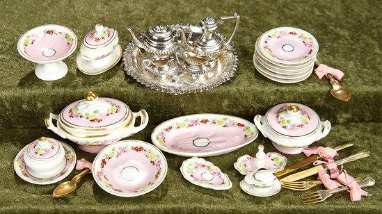 Petite French Porcelain de Paris service with lidded tureens. $400/500