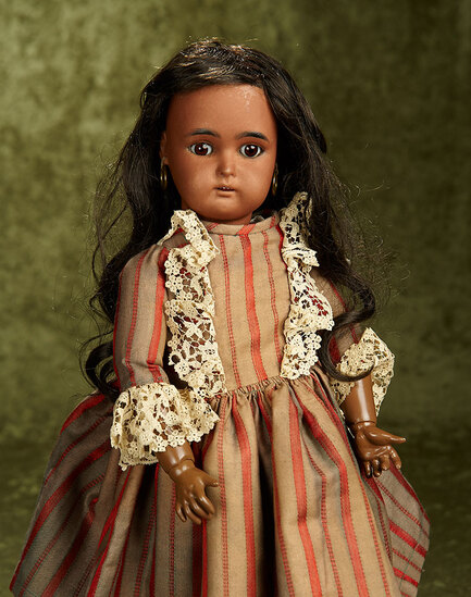 "18"" German brown-complexioned bisque doll by Kammer and Reinhardt. $600/800"