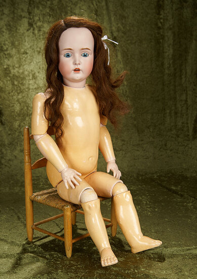 "31"" German bisque child, 171, by Kestner with original signed body. $600/800"