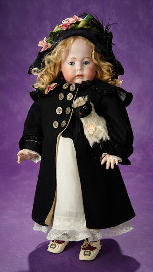 """German Bisque Character """"Fany"""" by Marseille with Wonderful Antique Costume 3500/4500"""