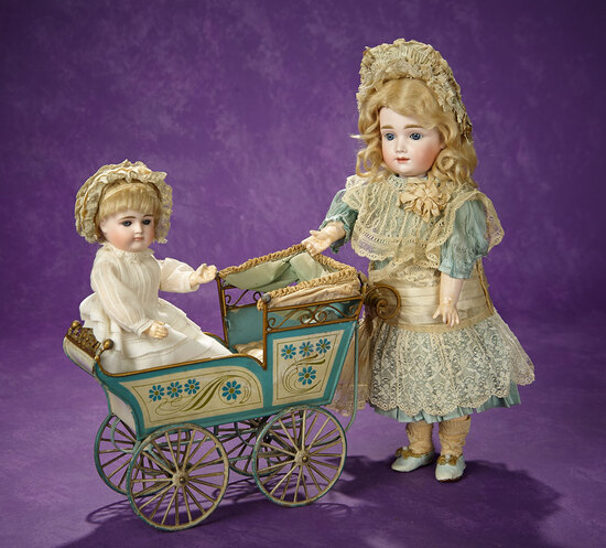 Charming Petite German Bisque Closed Mouth Doll by Kestner 1200/1400