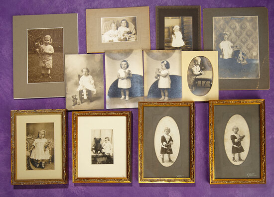 Collection of Vintage Photographs of Children with Teddy Bears 300/400