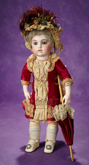 Beautiful French Bisque Bebe by Leon Casimir Bru with Signed Bru Shoes 11,000/16,000