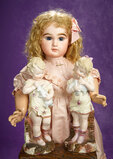 French Bisque Bebe by Emile Jumeau, Original Costume, Signed Jumeau Shoes 4000/5500