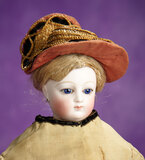 Petite French Bisque Poupee with Bisque Arms,