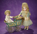 German Lithographed Tinplate Doll Carriage by Maerklin 1100/1300