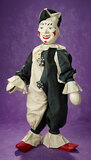 Extremely Rare American Carved Wooden Exhibition Clown by Schoenhut 4500/6500
