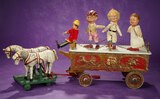 American Show Wagon with Performers from Humpty Dumpty Circus, Schoenhut 8000/9500