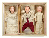 Rare French Bisque Multi-Head Character Series by SFBJ in Original Box 2800/3500