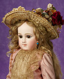 Gorgeous French Brown-Eyed Bisque Bebe E.J.A. by Emile Jumeau 11,000/15,000