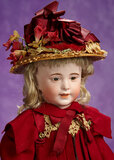 French Bisque Character, Model 238, by SFBJ with Delightful Costume 900/1200