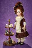 Doll-Size Mahogany Three-Tier Tray with Superb Decorative Miniatures 800/1100