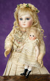 German All-Bisque Miniature Doll with High-Laced Black Boots by Kestner 800/1000