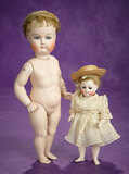 German All-Bisque Closed Mouth Doll by Kestner in Rare Grand Size 1700/2100