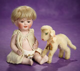 German All-Bisque Character Baby by Kestner with