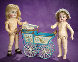 Petite Early German Bisque Closed Mouth Doll by Kestner 1100/1300