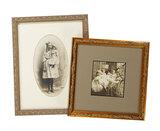 Vintage Framed Photographs of Children with Dolls 200/300