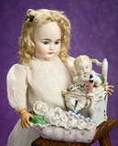 Early German Bisque Child Doll, 719, by Simon and Halbig 800/1100