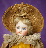 German Bisque Closed Mouth Doll, Model 905, by Simon and Halbig 1100/1500