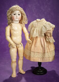 Early German Brown-Eyed Closed Mouth Bisque Doll by Kestner  1200/1500