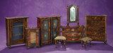 Set, Early Biedermeier Dollhouse Furnishings with Rosewood Finish 600/900
