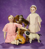 American Cloth Moravian Doll Known as
