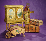Outstanding Victorian Velvet Candy Box in the Shape of Cabinet 400/500