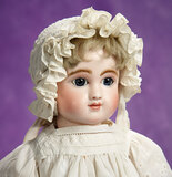 French Bisque Bebe, Figure C, by Jules Steiner with Wire Lever Eyes 3000/3800