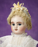 French Bisque Bebe, Figure B, with Lever Sleep Eyes by Jules Steiner 2800/3500