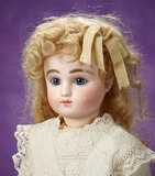Petite French Bisque Bebe, Series C, with Original Signed Body and Original Wig 2800/3200