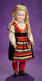 German Bisque Character, 520, by Kley and Hahn in Original Folklore Costume 1200/1500