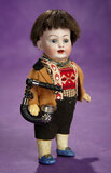 German Bisque Miniature Character in Wonderful Folklore Costume 300/500