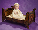Victorian Sleigh Bed for Doll with Inlay Design 300/400