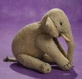 German Brushed Woolen Elephant by Steiff 300/400