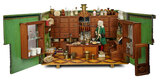 German Wooden Apothecary Shop with Architectural Facade, Possibly Hacker 4500/6500