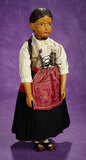All-Original Swiss Wooden Character Doll by Huggler 700/900