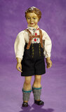 Carved Wooden Articulated Doll in Original Bavarian Costume 600/800