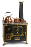 French Cast Iron Toy Stove with Copper Pots 600/800