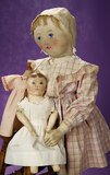 American Oil-Painted Blue-Eyed Columbian Doll by Emma Adams in Petite Size 1100/1300