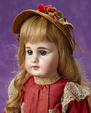 German Bisque Closed Mouth Doll, Paperweight Eyes, 939, Simon and Halbig 1100/1400