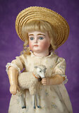 Rare German Bisque Closed Mouth Doll, Model XI, by Kestner 1400/1800