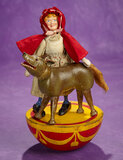 American Half-Rolly-Dolly Set of Little Red Riding Hood and Wolf by Schoenhut 2800/3500