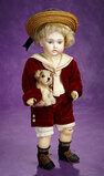 Early German Bisque Closed Mouth Doll by Kestner with Jointed Ankles 1400/1800